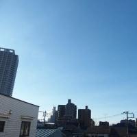 今朝(2月21日)の東京のお天気:晴れ、(2月の作品:祈りの像)