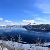 凍った摩周湖・・。