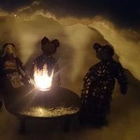 雪灯りのお庭(北海道沙流郡日高町日高地区)