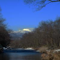 冬のウヨロ川 静寂の川にサケの稚魚