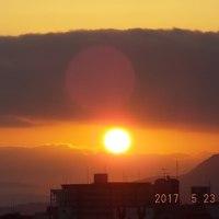 2017年05月23日(火曜日) 晴れ(雲、やや多い)。。 <新月、間近>