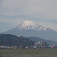 2017/4/18の富士山は清水港から 隣は映画ハルチカロケ地