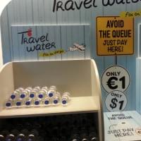 ブリュッセル空港 飲料水発見