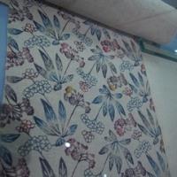 紙布展にいきました。紅型帯&白山紬