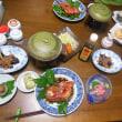 海の日☆伊豆大島ハンマー&ニタリツアー その6/八幡荘の夕食