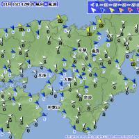 1月16日 アメダスと天気図。