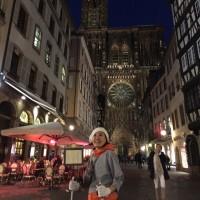 NHK「旅するフランス語」に載ってる教会迄ノルディックウォーキング