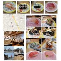 幸手(高野台)、かっぱ寿司で娘・妻とランチを楽しむ。3人だといろいろな物が食べられた。