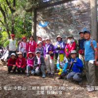 23 竜山・中野山・二艘木(490・580・290m:安芸区)登山  記念の集合写真