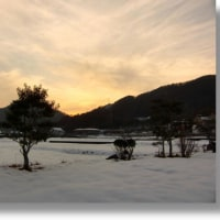 夕焼けはきれいだけど,明日はまた雪?