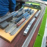 「第15回アーモンド並木と春の音楽会」の鉄道模型体験運転の出展