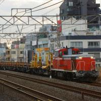 2017年2月22日  越中島支線  平井  DE10-1604 レール輸送列車