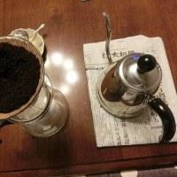 超~イタリアンな豆を粗挽きでドリップ珈琲‼‼‼ とアップルパイ(『YOCICOTAN Cafe』さん ) @ おやじボクサー