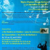 Marie d'Epizon chante Barbara