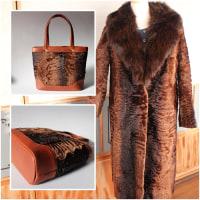 高級毛皮コートをバッグに。