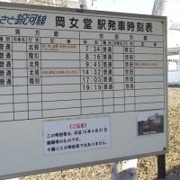 十勝のあれこれ … 岡女堂駅跡