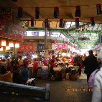 서울 광장시장(広蔵市場)、グルメ人気NO.1 「スニネピンデトッ」