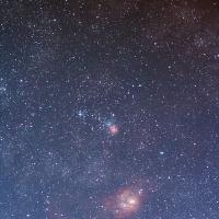 射手座 M8干潟星雲とM20三裂星雲