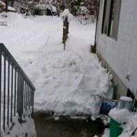 又々、屋根雪ドッサリ!