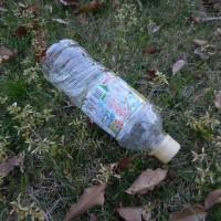 ペットボトル2本、たばこの空箱1個収集 レジ袋でゴミ拾い&街美化とパトロール
