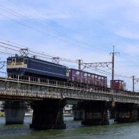 原色PFの5087レを撮影~瀬田川にて_17/06/17