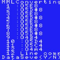 [MSX]USSCORE ヘ音部の音階の対応 USSCORE7