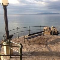 オパティアの海沿いの遊歩道