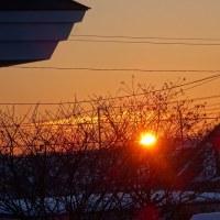 2階から 月と太陽