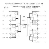 h28新人戦大会 男子決勝トーナメント最終結果