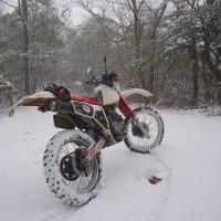 雪中朝練ツーリング
