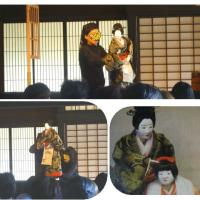人形浄瑠璃公演を古民家で鑑賞
