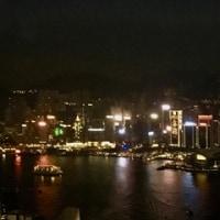 地上393mからの香港の夜景