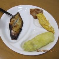 朝ご飯・・・緑がない