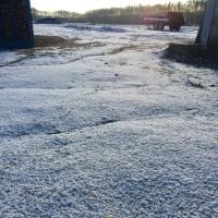 訓子府町も初雪。