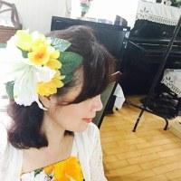 フラダンスのヘア飾り制作