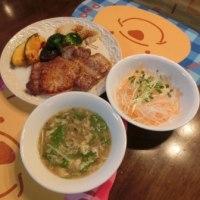 豚テキ&大根サラダ&しゃぶしゃぶスープ