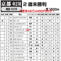 「カバラ音数出馬表」 11月27日京都2R・3連単48万馬券含む全10レース的中! 全国ローソン・ファミリーマート・サークルKサンクスで発売中!