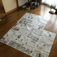 新聞紙でグランドピアノ作った