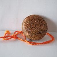 木彫りの鈴、根付の下絵