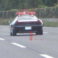 東北自動車道で、NSXを見ました。栃木はホンダがある地域です。