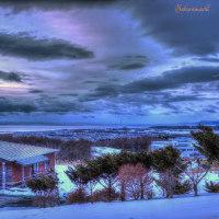 冬の夕暮れの風景