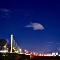 17/Jan 圏央道と湘南銀河の夜景と富士見のベンチとコゲラとタゲリ