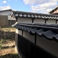 岡山市東区中川町で塀瓦修繕工事