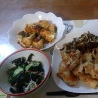 1月14日夕 鶏胸肉のパン粉焼き