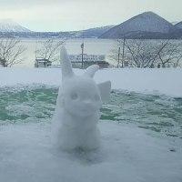当ホテルのロビーからご覧いただける雪像のご案内♪