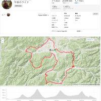 飛騨牛〜今谷〜モンデウス〜美女高原72kmライド。ボトルを新調。