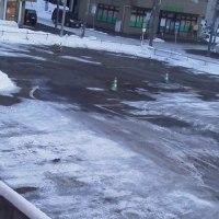 2017/2/28  午前6時半過ぎ札幌の空模様   晴れ---( ^ω^ )ニコニコ