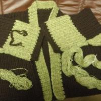 やっと編みあがりました~~