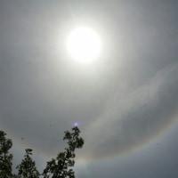 太陽のまわりにリングがあります!