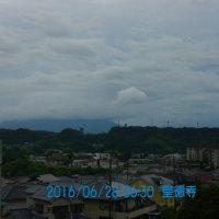 06月28日、朝の桜島